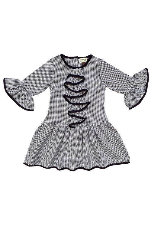 Toddler & Kids Black and White Corrine Dress