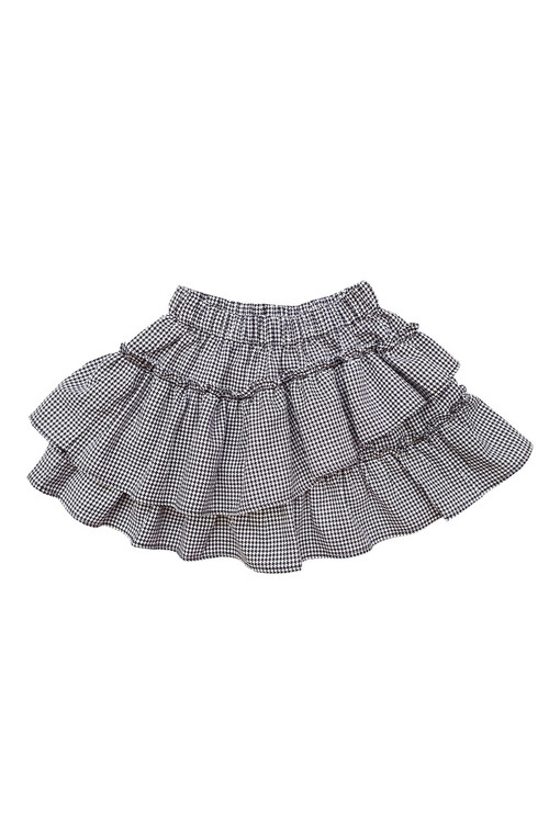 Sophie Catalou Girls Toddler & Kids Houndstooth Ruffle Short Skirt 2-12y