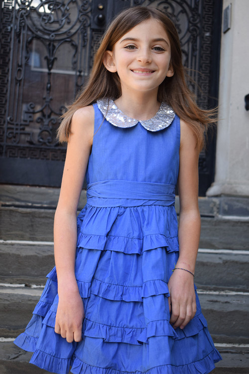 Toddler & Kids Blue Darcy Dress