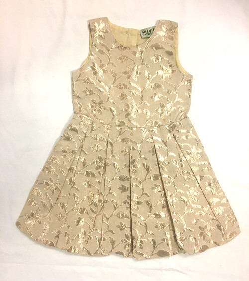 Sample Sale Gold Brocade Dress