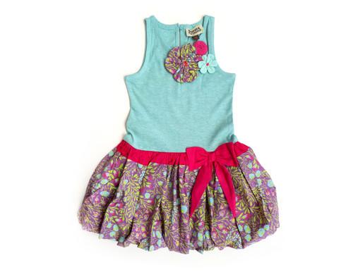 Sample  Seafoam Provence Drop-Waist Dress