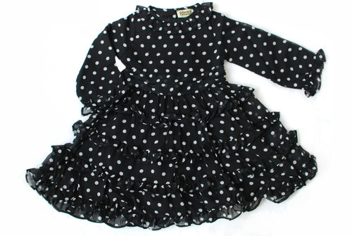 Sample Sale Black and White Polka Dot Dress