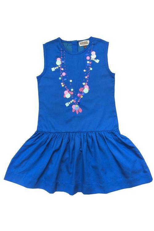 Sample Sale Royal Sequin Necklace Dress