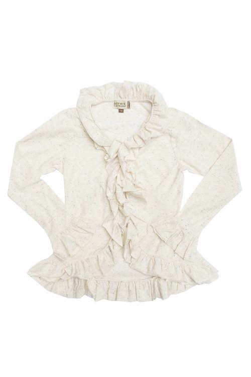 Sample Sale Ecru hi-low cardigan