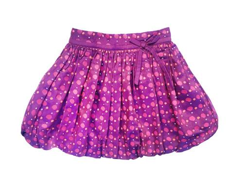Sample Sale Purple Dot Bubble Skirt