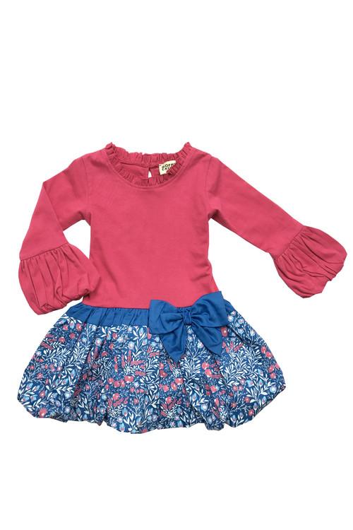 Sample Sale Dark Bubblegum/Royal Drop-Waist Dress