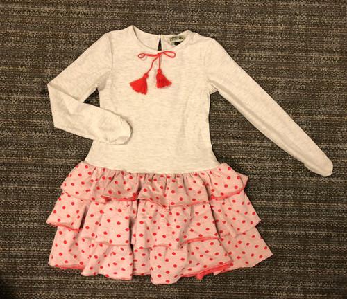 Sample Sale Ecru Polka Dot Dress