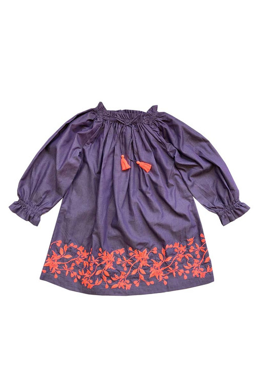 Sophie Catalou Girls Toddler & Kids Purple Karyn Dress 2-9/10y