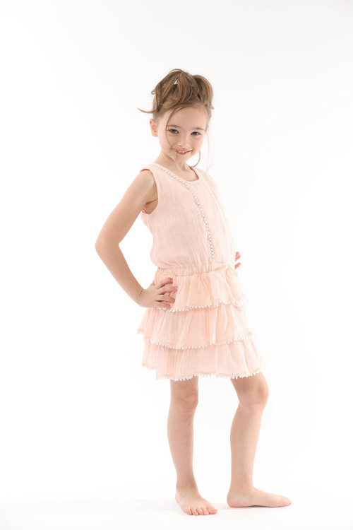 Sample Sale Blush Ruffle Dress
