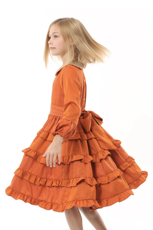 Infant Toddler & Kids Orange Tatiana Dress