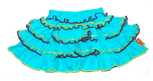 Sample Sale Aquagreen ruffle skirt