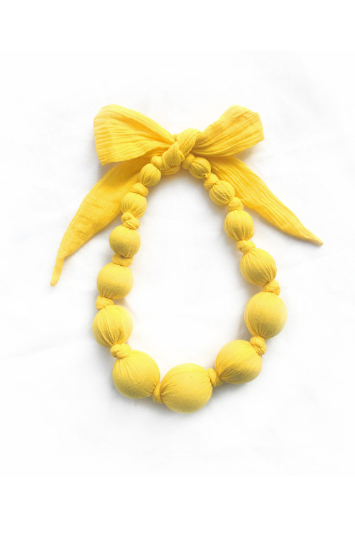 Yellow Crinkle Necklace