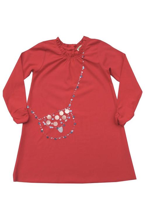Carnation Sequin Bag Dress