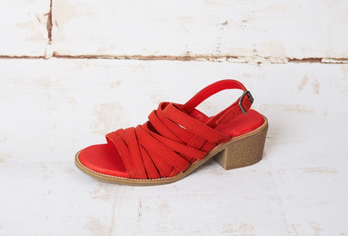 Jia Red Veg. Suede