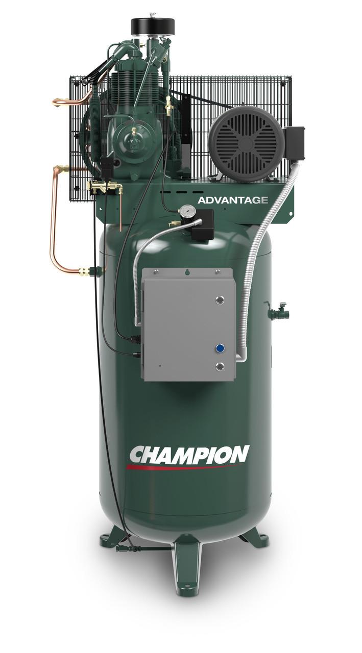 Champion VR5-8ADV-3 5 HP 3 Phase Vertical Tank Air Compressor