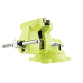 """Wilton 1560 High-Visibility Safety 6"""" Vise with Swivel Base"""