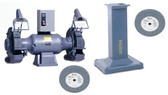 Baldor 1216W Grinder with GA20 Pedestal and Wheels Package