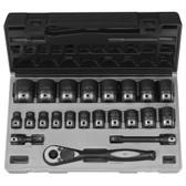 "Grey Pneumatic 82622 1/2"" Drive Standard Length Duo-Socket Set"