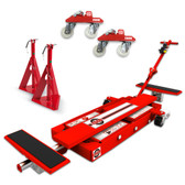 Esco 92055 miniLIFT with jack stands and trolley wheels