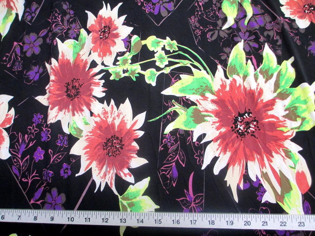 Printed lycra spandex stretch bold floral pink black discount discount fabric printed lycra spandex stretch bold floral pink black c300 mightylinksfo