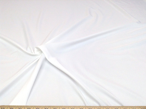 Discount Fabric Challis Apparel Top Weight Solid White Soft and Flowing CH13