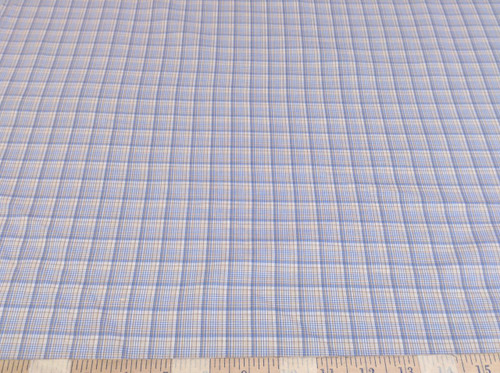 Discount Fabric Quilting Cotton Blue and Tan Plaid CT013