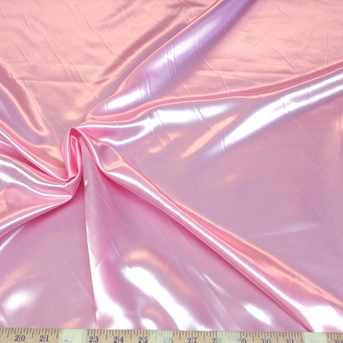 Discount Fabric Satin Pink 65 inches wide SA12