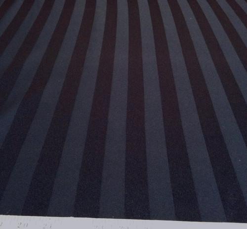 Discount Fabric Upholstery Drapery Brocade Satin Stripe Black DR20