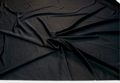 Discount Fabric Nylon Lycra Spandex 4 way stretch Solid Black NLY03