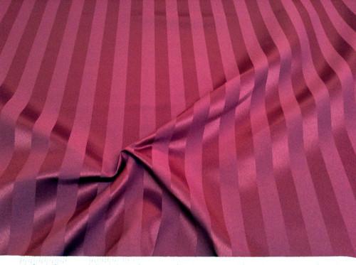 Discount Tablecloth Fabric Brocade Satin Stripe Burgundy DR29
