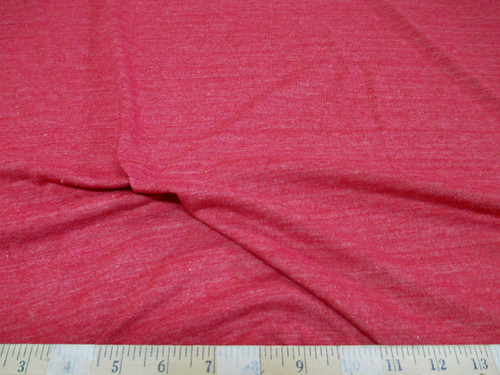 Discount Fabric 4 way Stretch Cotton Blend Heather Red SC100