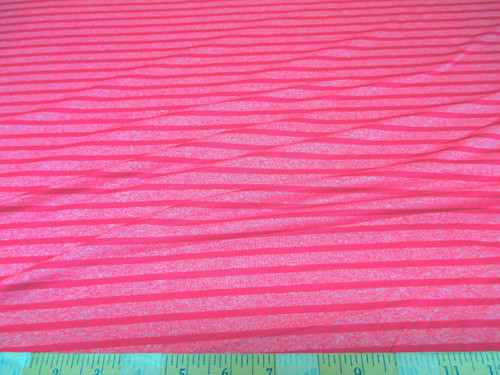 Discount Fabric 4 way Stretch Cotton Blend Rose Pink Striped SC105