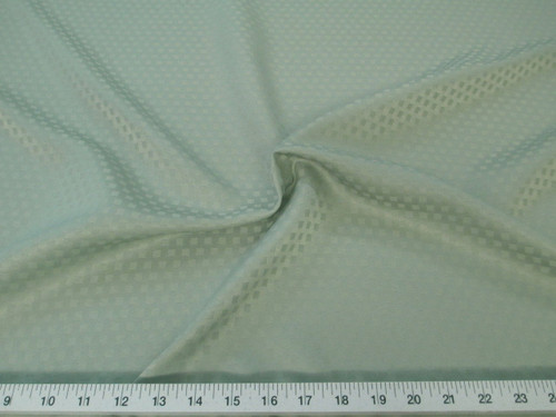 Discount Fabric Drapery Jacquard Check Light Olive Green DR44