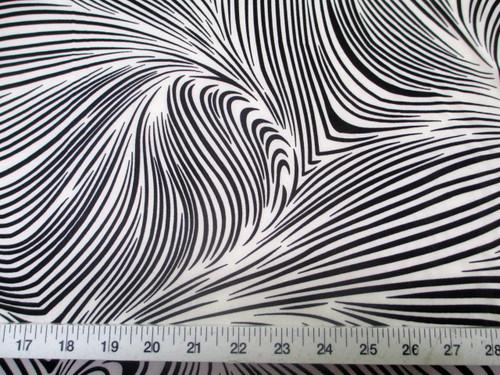 Discount Fabric Printed Lycra Spandex Stretch Abstract Zebra Black White F201