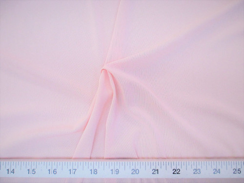 Discount Fabric Pale Pink PowerNet Mesh Spandex 4 way Stretch sheer PO320