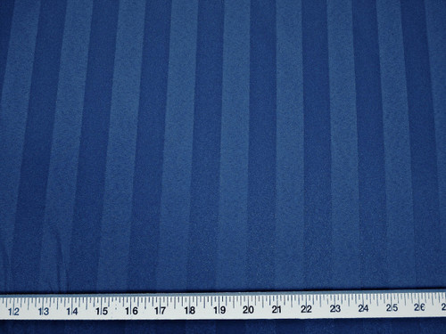 Discount Fabric Upholstery Drapery Brocade Satin Stripe Navy DR34