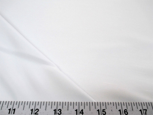 Discount Fabric Antique Satin White 3 Pass Blackout Curtain Drapery DR13