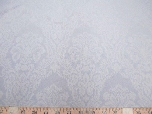 Discount Fabric 75 inches wide Drapery Jacquard Damask Floral Dove Gray DR48