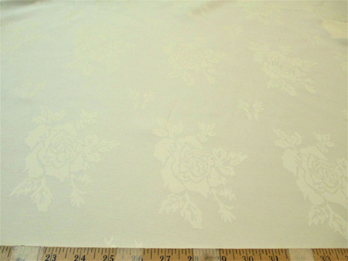 Discount Fabric Upholstery Drapery Twill Jacquard All Over Rose Ivory DR52