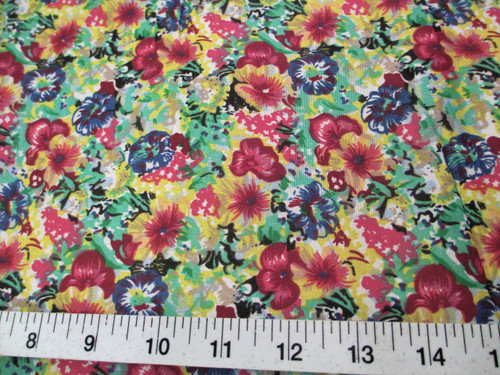 Discount Fabric Cotton Apparel Bold Multi Colored Floral K408