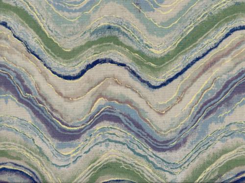 Discount Fabric Richloom Upholstery Drapery Florence Aquamarine Waves NN13