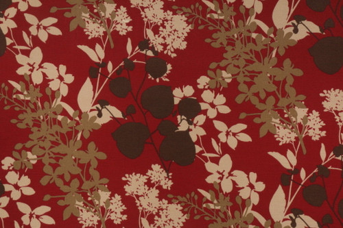 Discount Fabric Richloom Solarium Indoor Outdoor Montefleur Sangria Floral NN20