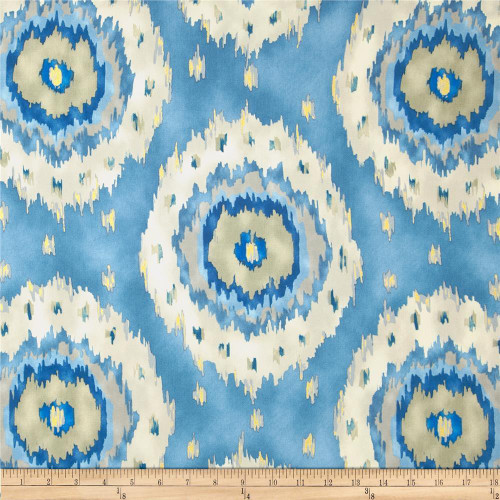 Discount Fabric Richloom Upholstery Drapery Alhambra French Ikat Medallion NN26