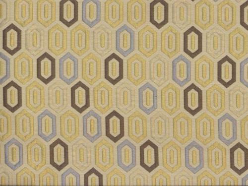 Discount Fabric Richloom Upholstery Drapery Devi Citrus Geometric Jacquard NN43