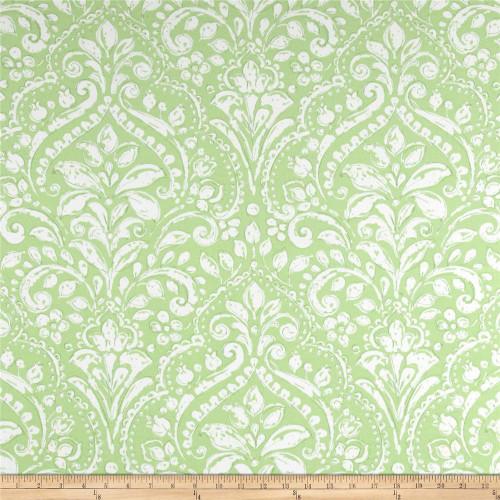 Discount Fabric Richloom Solarium Indoor Outdoor Topaz Mint Floral OO11