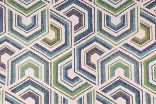 Discount Fabric Richloom Upholstery Drapery Canaan Meadow Geometric QQ22