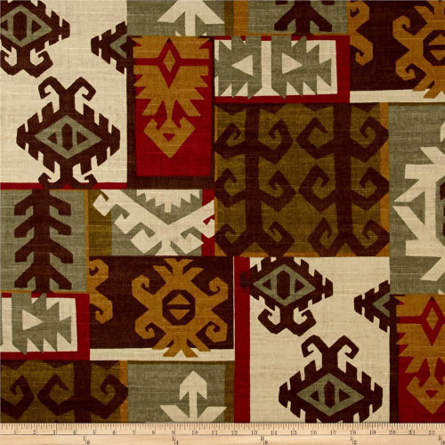 Discount Fabric Richloom Upholstery Drapery Apache Cabin Tribal QQ40