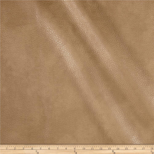 Discount Fabric Richloom Tough Faux Leather Pleather Vinyl Lattimer Tobacco SS21