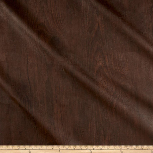 Discount Fabric Richloom Tough Faux Leather Pleather Vinyl Dellwood Walnut SS40