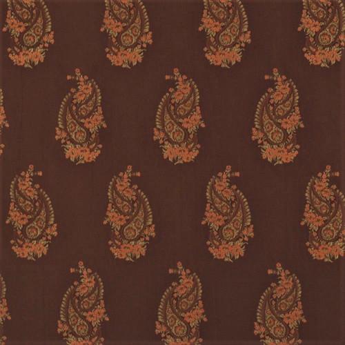 Fabric Robert Allen Beacon Hill Kimball Teak 100% Silk Embroidered Drapery HH11